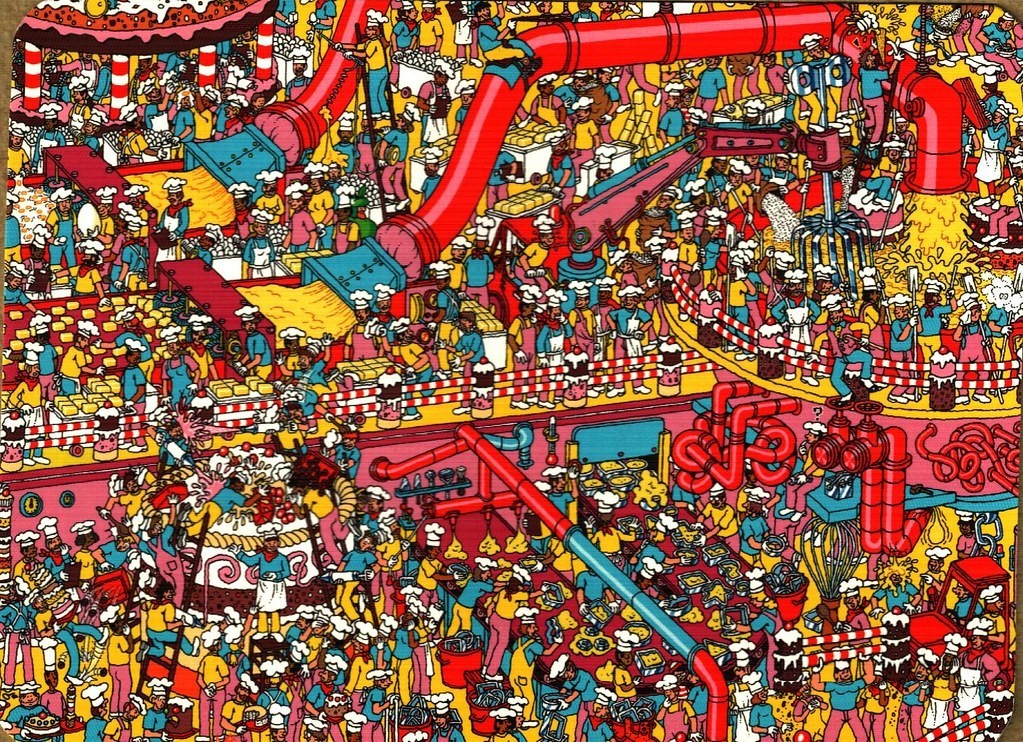 Where's Wally cake factory