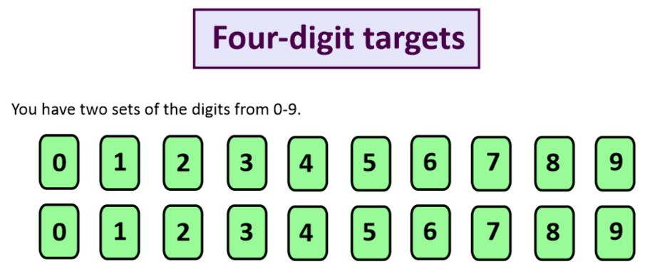 four digit targets